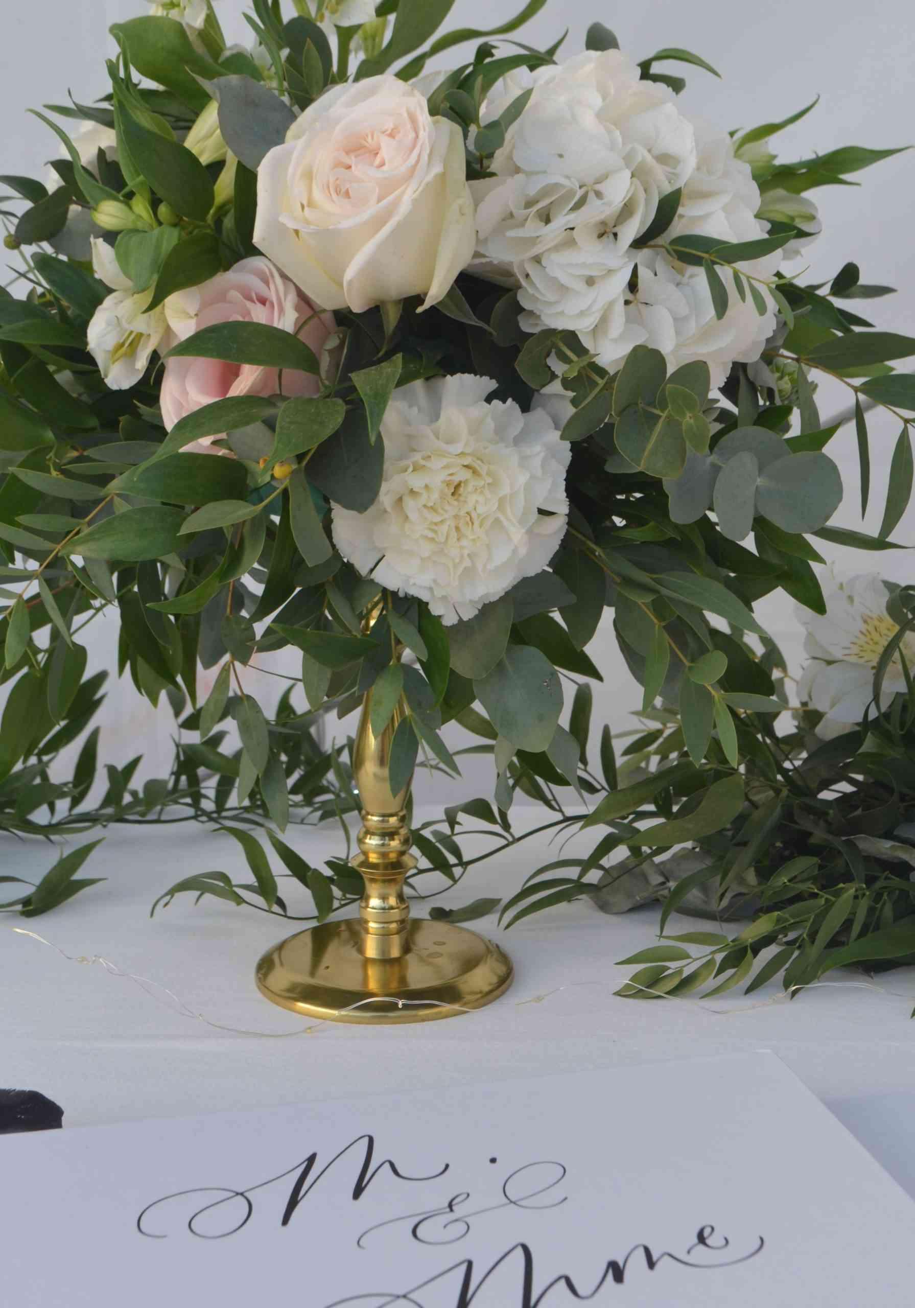 Photophore doré decoration de mariage rennes