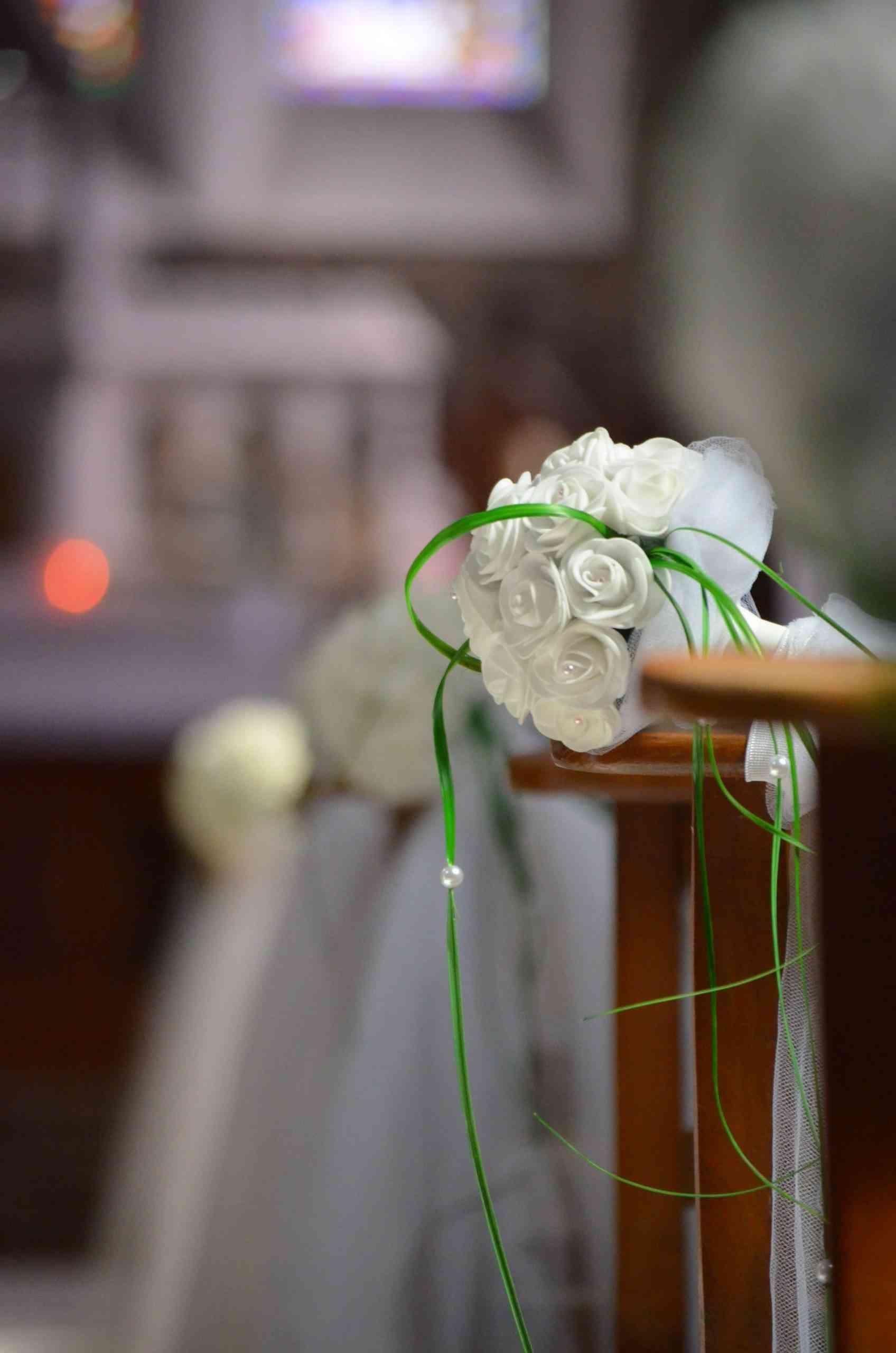 bout de banc decoration église mariage