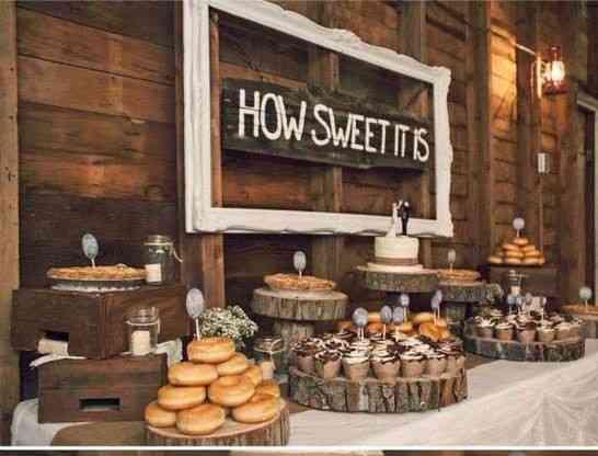Candy bar champêtre deco mariage