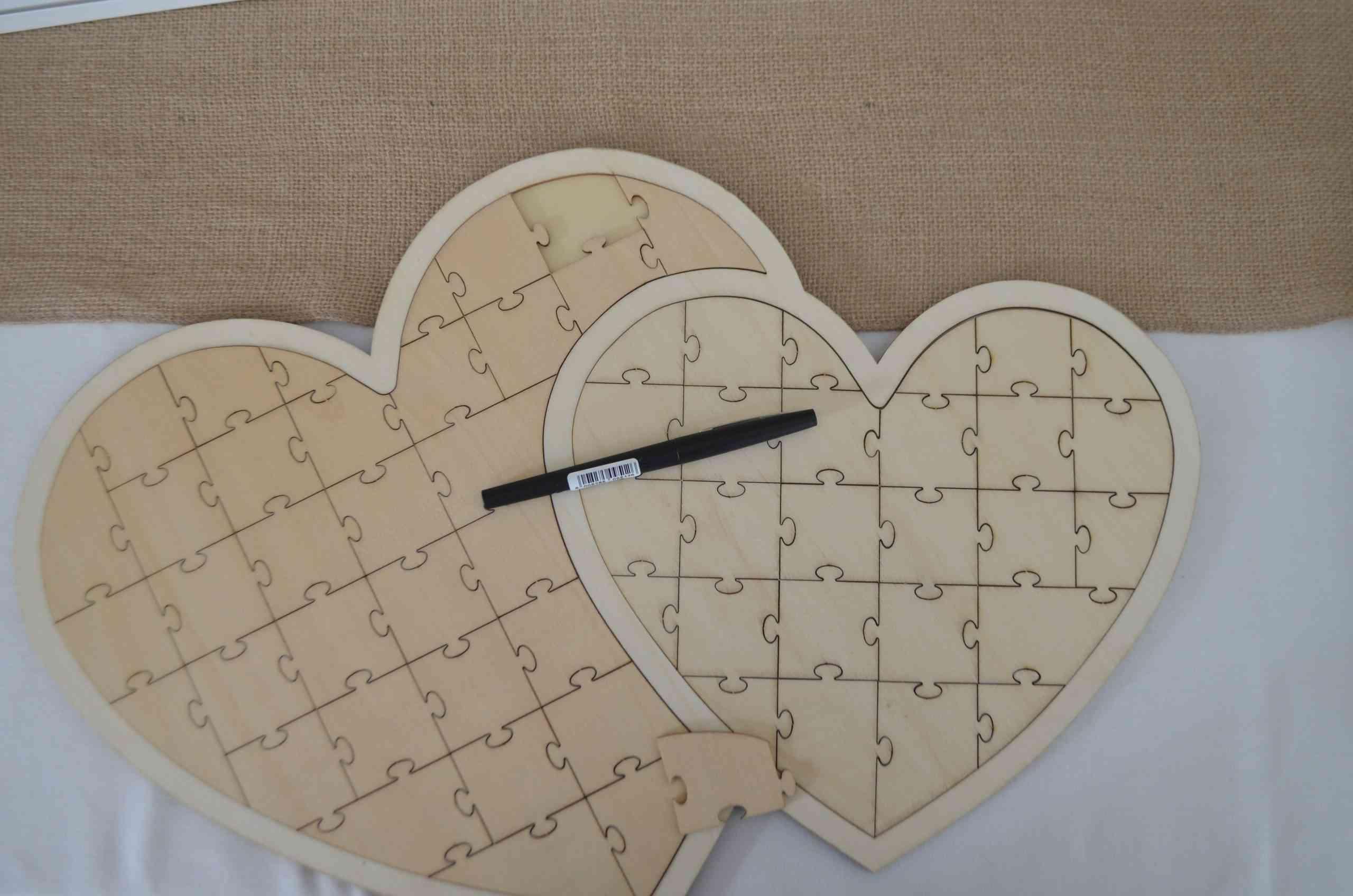 Livre d'or puzzle decoration de mariage