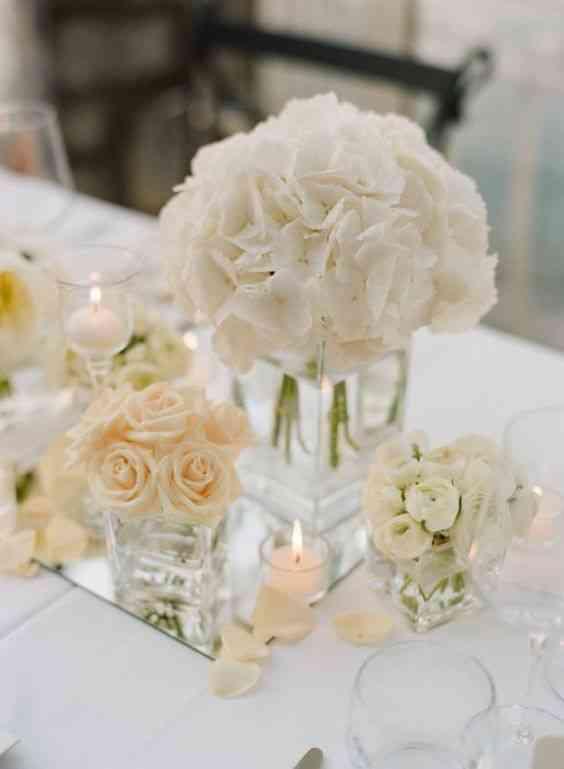 Vase cube deco mariage