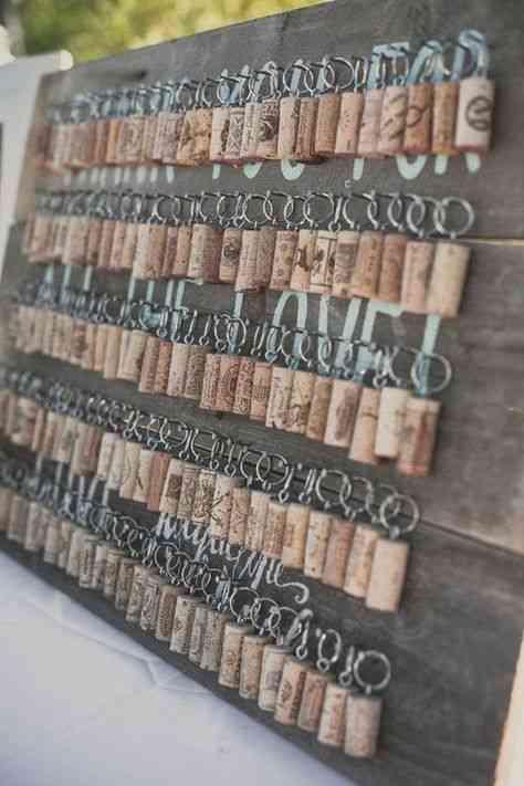 Plan de table thème viticole