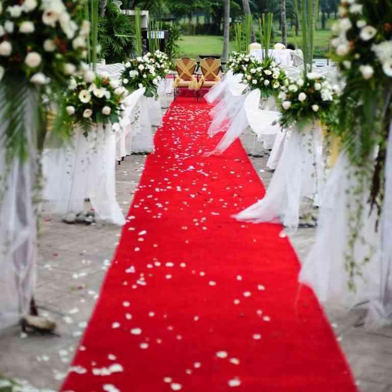 Tapis de cérémonie rouge mariage