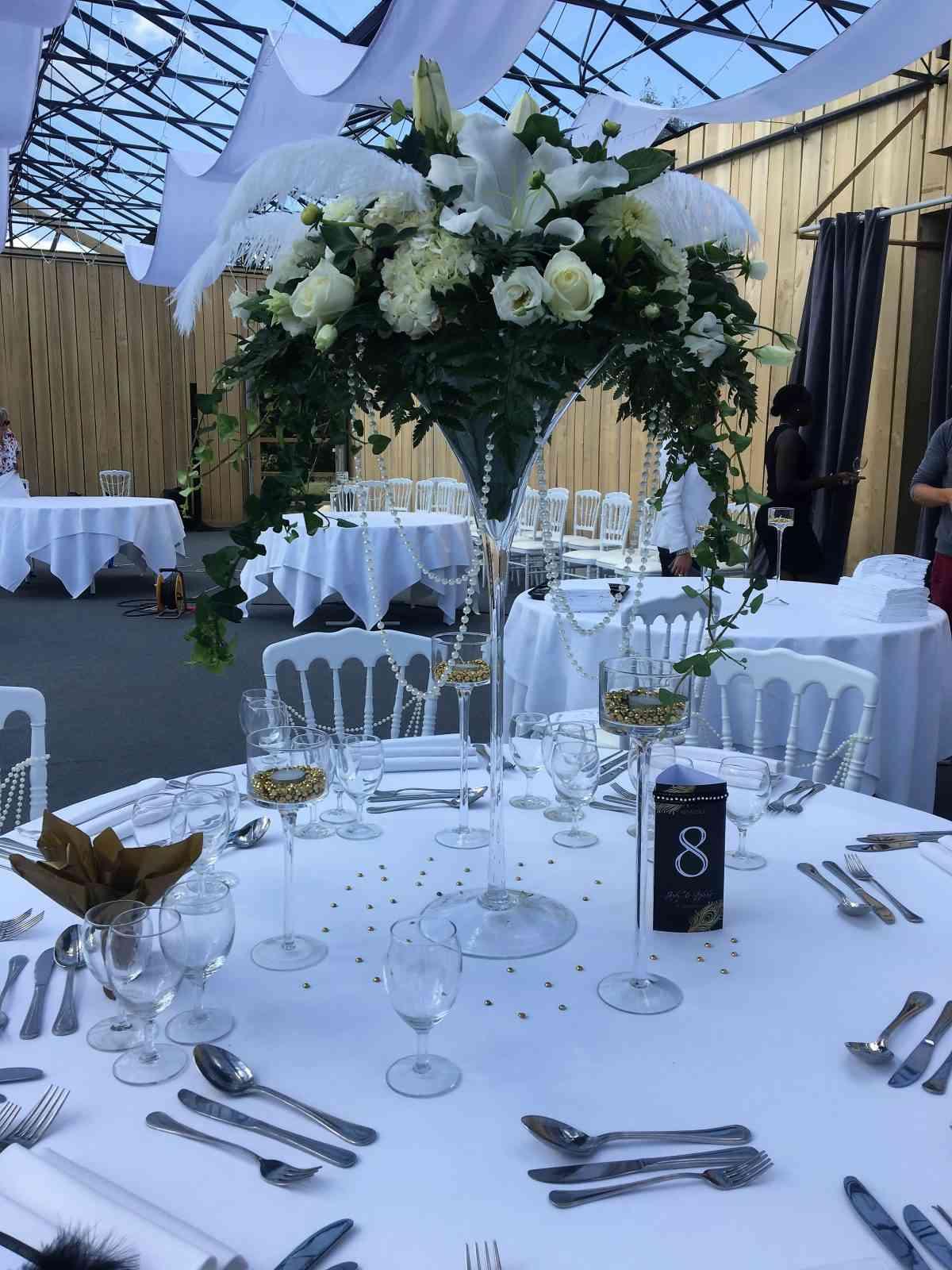 Composition florale de mariage rennes pour centre de table